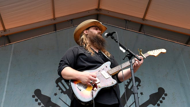 Chris Stapleton performs at the Pilgrimage Music & Cultural Festival in Franklin on Sunday.