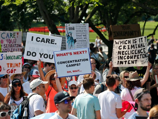 AP IMMIGRATION PROTESTS A USA DC