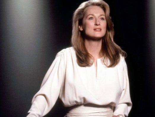 """Meryl Streep from the 1991 film """"Defending Your Life."""""""