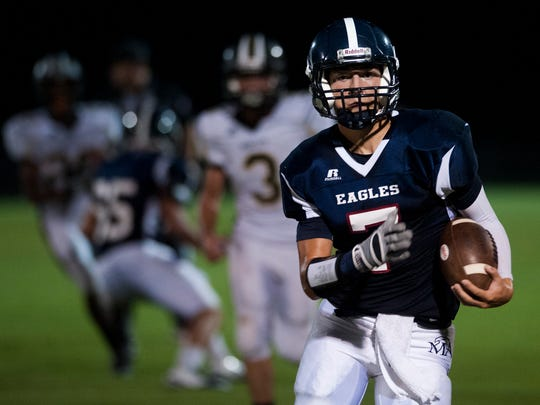 Montgomery Academy's Barton Lester carries against