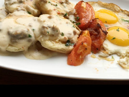 5 to Try: 55 South biscuits & gravy