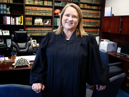 Jennifer Nichols, appointed interim judge in January, is running for election as judge of Criminal Court Division 10.
