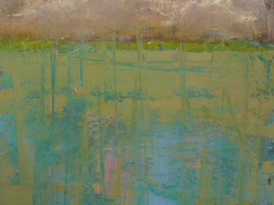 """Pond Reflections,"" painting by Ginnie Cappaert of Cappaert Contemporary Gallery, one of the studios hosting Artist Demo Day on Oct. 1."