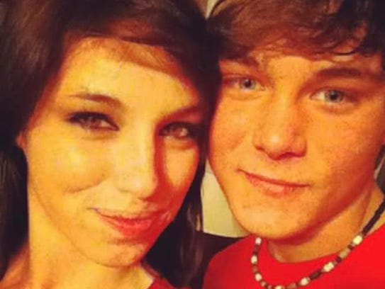 Branden Cooper and his sister, Jessica, who died of