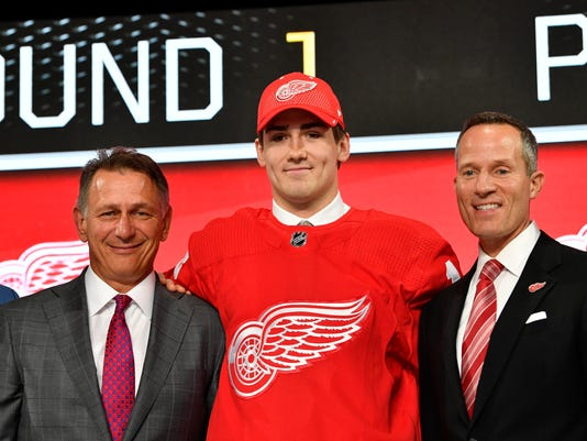 Filip Zadina, Ken Holland, Chris Ilitch