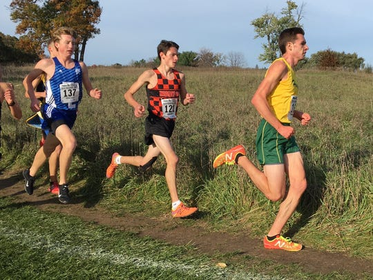 Howell's David Mitter (right) finished third and Brighton's