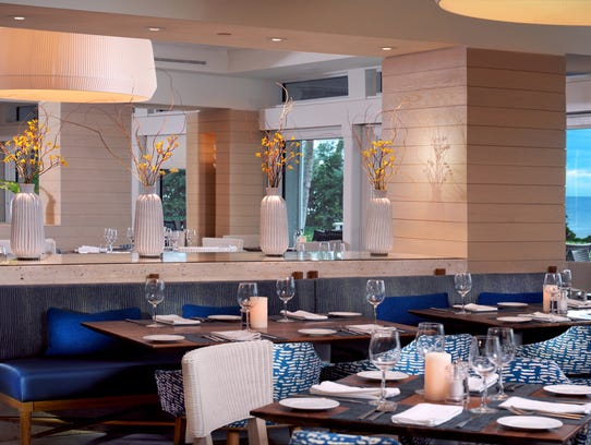 Recently renovated, the dining room at Baleen has a