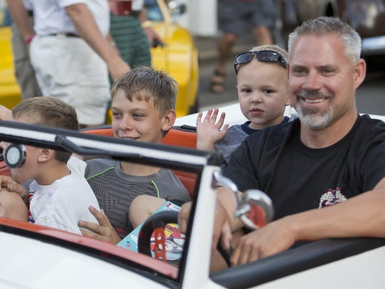 Darrin Windell and family cruise during the Hot August Nights official kickoff cruise in Virginia City on Friday night. Darrin Windell and family cruise during the Hot August Nights official kickoff cruise in Virginia City in 2015.