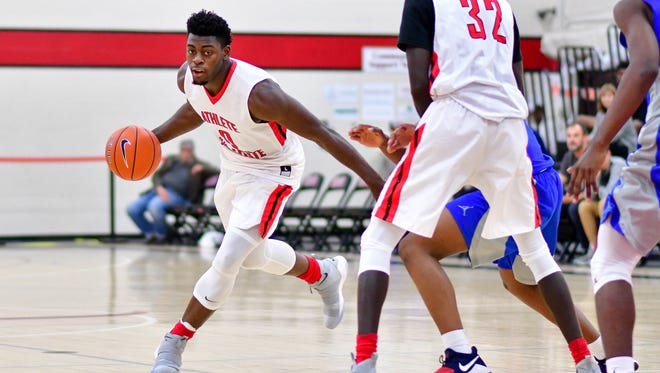 Luguentz Dort is a 6-foot-4 freshman guard out of the Athlete Institute in Ontario.