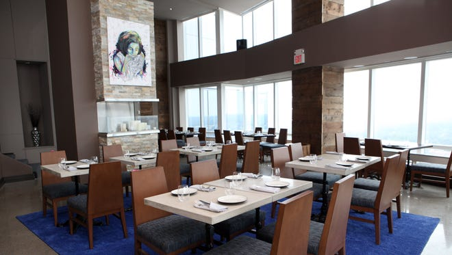 One of the recently renovated dining rooms at 42 The Restaurant, at the top of the Ritz-Carlton.