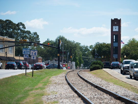 A new section of the Swamp Rabbit Trail is proposed in Simpsonville, where it would run parallel to Southeast Main Street along the railroad tracks.