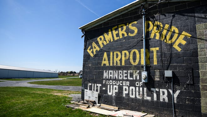 Farmers Pride Airport near Fredericksburg is pictured on Wednesday, March 30, 2016. The airport was founded by Clarence Manbeck.