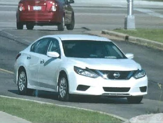 Three suspects fled from Woodman's in this 2018 Nissan Altima with Michigan plates, DTR-5561, after allegedly stealing an elderly woman's purse containing credit cards and about $420 in cash.
