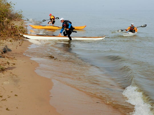 New kayak campsites were added along the Lake Michigan State Water Trail at Point Beach State Forest in 2014.