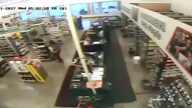 Still image from the video O'Reilly Auto Parts on Nov. 1, 2017, in Detroit.