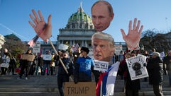 Protesters demonstrate ahead of Pennsylvania's Electoral