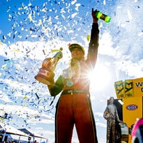 Leah Pritchett opens season with second straight NHRA Top Fuel win