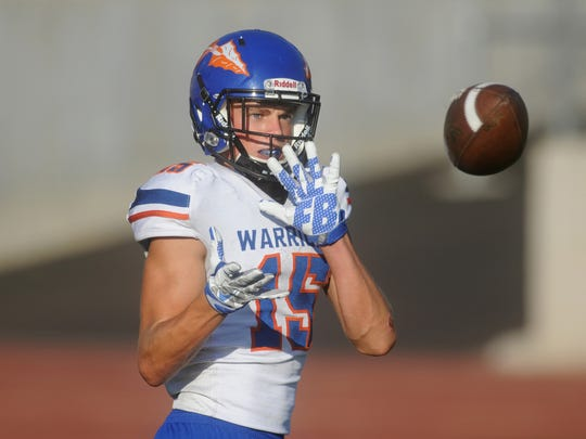 Michael Carner made a catch after deflection on a Hail Mary pass to help Westlake shock Camarillo on Friday night.