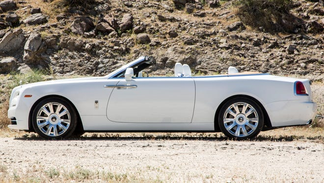 The Rolls-Royce Dawn Palm Springs Collection is a specially styled convertible inspired by modernist interior design.