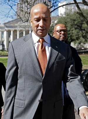 Former New Orleans mayor Ray Nagin on Jan. 30, 2014, enters federal court for jury selection in his corruption trial. He was convicted Feb. 12.