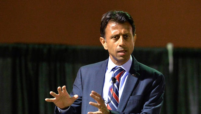 Louisiana Gov. Bobby Jindal took a jab at people who lit up Twitter over a portrait of him with white skin.