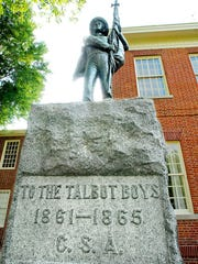 "The Confederate hero memorial ""To the Talbot Boys,"" on the lawn of the Talbot County Courthouse, is being called into question by the Talbot County chapter of the NAACP."