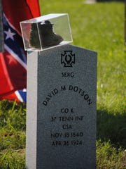 Descendants of David M. Dotson gathered this year in a Grainger County cemetery to honor the Civil War soldier, who wore an unusual custom boot because of a wartime injury.