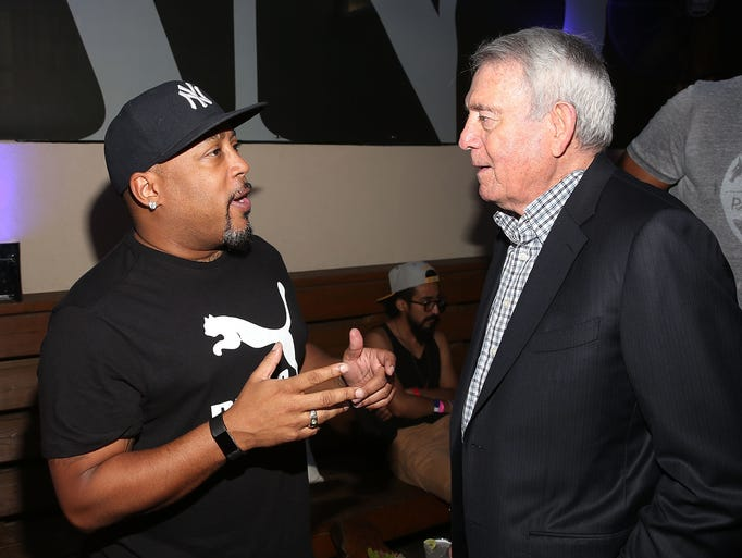Daymond John and Dan Rather attend the 8th annual Fast
