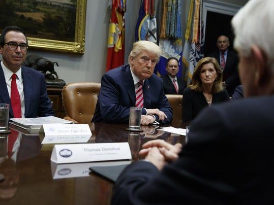 Donald Trump,Steve Mnuchin,Karen Kerrigan,Tom Donahue