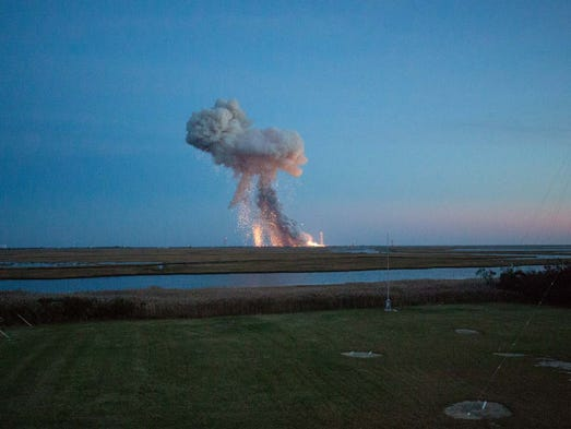 The Orbital Sciences Corporation Antares rocket, with