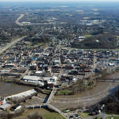 A view of Downtown Zanesville looking east. Mayor Jeff
