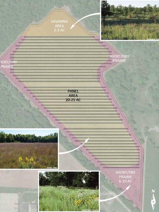 Proposed solar garden area