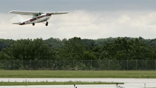 A Lafayette Aviation plane takes off, Friday, June 24, 2011, at Purdue Airport in West Lafayette. Plans for a 980-acre aerospace technology park at Purdue University were unveiled Tuesday in Indianapolis.