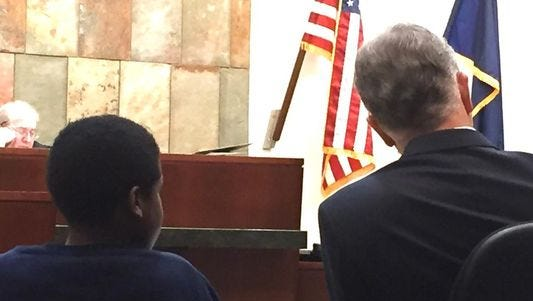 Jamarian Lawhorn attends his competency hearing on Monday, May 11, 2015.