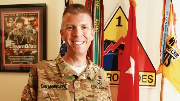 Brig. Gen. Jeff Broadwater has served as the 1st Armored Division's deputy commanding general for support.