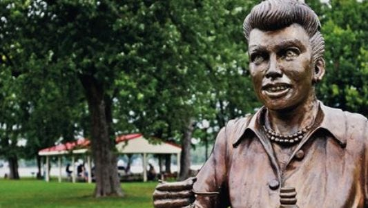 """The """"Scary Lucy"""" statue will remain at a different location in park, officials said."""