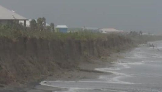 Tropical Storm Cindy caused some flooding on Grand Isle in lower Jefferson Parish.