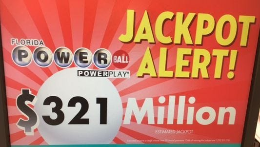 Saturday night's Powerball jackpot ranks as the 20th-highest ever.