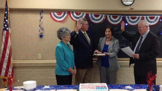 Sheriff Ronny Theriot was sworn in Friday for his fourth term as sheriff of St. Martin Parish by Judge John Conery.