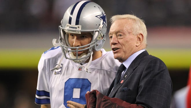 Tony Romo, Jerry Jones and the Cowboys are one win from a playoff berth.