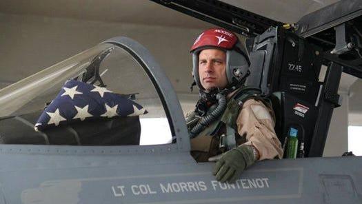 Lt. Col. Morris Fontenot, Jr. in his F-15.