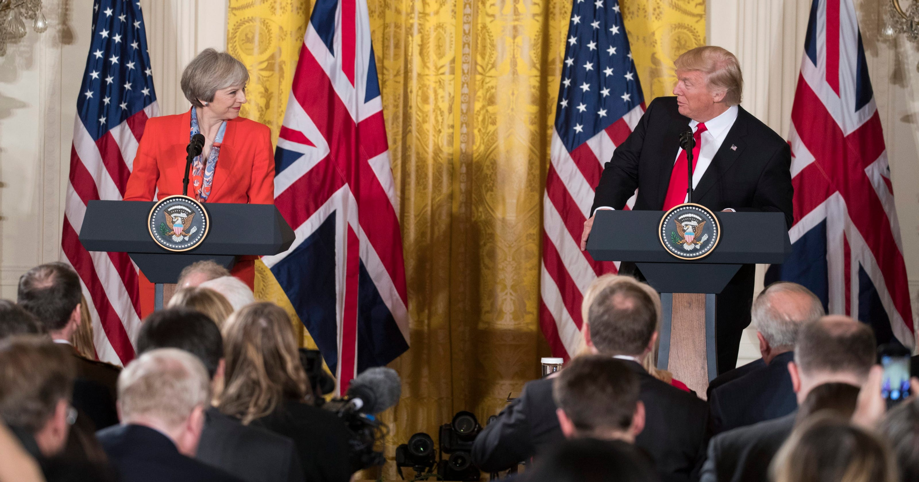 Trump Uk Prime Minister Emphasize Special Relationship At White House