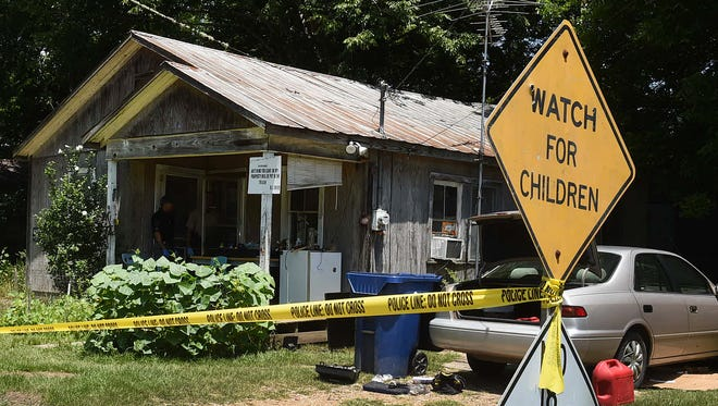 Opelousas police investigate a shooting involving a 6-year-old in Opelousas Friday.