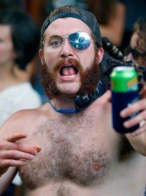 Party Cove fashion at Forecastle. July 17, 2016