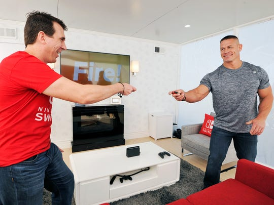 John Cena, WWE Superstar, hosts Nintendo Switch in