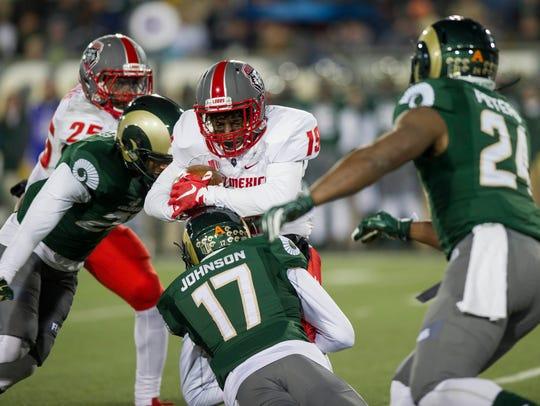 Colorado State Rams defensive back Shun Johnson (17)