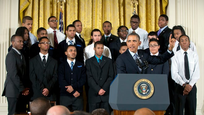 """President Obama announces the """"My Brother's Keeper"""" initiative on Feb. 27 at the White House."""