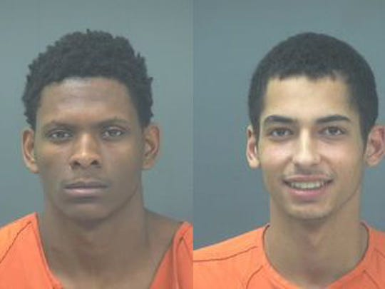 Mugshot of Jones, left, and Garland, right.