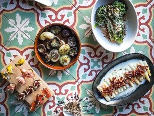 Spanish dishes designed for sharing are specialties at Loquita in Santa Barbara. The kitchen is overseen by executive chef Peter Lee, formerly of Osteria Mozza in Los Angeles.