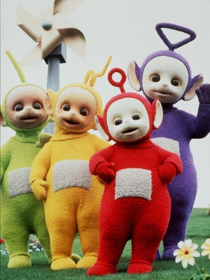 Teletubbies: Tinky Winky, Dipsy, Laa Laa  and Po.